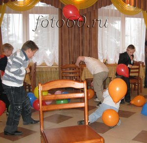 конкурс с воздушными шарами