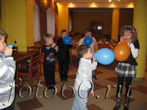 конкурс детский надувание шаров