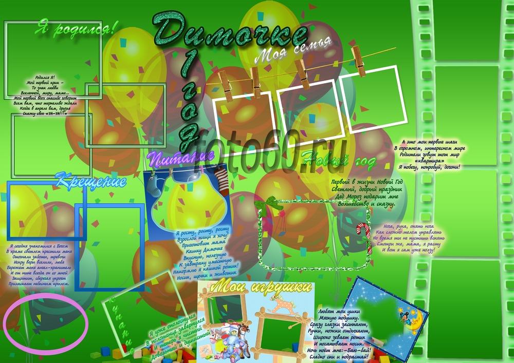 Плакаты на день рождения ребенка